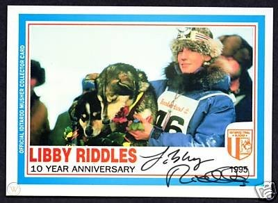 libby riddles 1995 autographed card